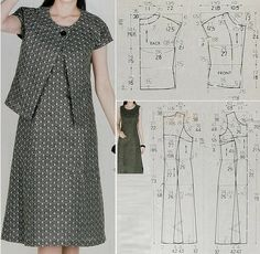 Sewing Clothes Sewing Pants Sewing Patterns Free Clothing Patterns Dress Patterns Different Dresses Simple Dresses Techniques Couture Sewing Techniques Sewing Dress, Dress Sewing Patterns, Sewing Patterns Free, Sewing Clothes, Clothing Patterns, Vestidos Vintage, Schneider, Pants Pattern, Fashion Sewing