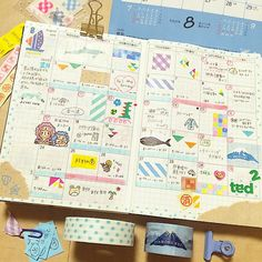 Hobonichi pages.