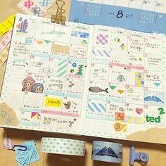 いいね!1,194件、コメント25件 ― yui kkkkkさん(@yuchikoneko2)のInstagramアカウント: 「*monthly 8月 今月もお疲れ様でした! 夏がおわるよ〜秋になる〜 秋が1番好きな季節〜◟꒰•̊꒳•̊*꒱◜∗.♪ また来月も頑張りましょう * マンスリーのページも…」 Bullet Journal Japan, Bullet Journal And Diary, Bullet Journal Ideas Pages, Planer Organisation, Hobonichi Techo, Journal Notebook, Happy Planner, Planner Stickers, Washi Tape