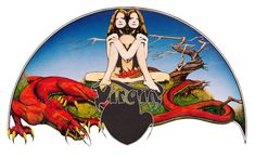 Dean didn't just specialise in album covers – he was the inhouse artist of the UK progressive movement, supplying the origina Virgin records logo in Rock Album Covers, Music Album Covers, Richard Branson, Roger Dean, Virgin Records, Album Cover Design, Rock Artists, English Artists, Progressive Rock