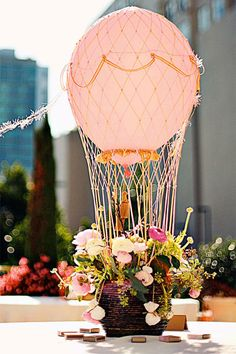 Up, up, and away! Guests will love this whimsical choice.