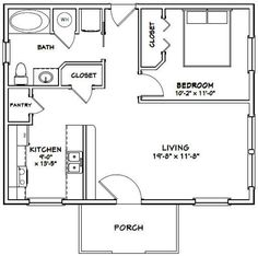 Small House Floor Plans, Cabin Floor Plans, Small Bathroom Floor Plans, Garage Apartment Plans, Garage Apartments, Shipping Container Home Builders, Casa Loft, Tiny House Bathroom, Tiny House Living