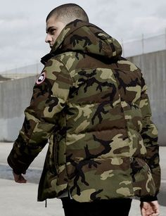 Camo Fashion, Men's Fashion, Winter Fashion, Fashion Trends, Ss16, Canada Goose Mens, Canadian Army, Winter Warmers, Victorias Secret Models