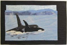 Ionne McCauley, a quilt artist and teacher living in Qualicum Beach, BC, teaches various quilting workshops and is author of her quilting book Color for the Terrified Quilter. Book Quilt, Whale, Collage Pictures, Teacher, Quilts, Gallery, Artist, Fabric, March