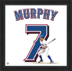 David Murphy Texas Rangers Sewn Jerseys