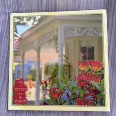 Historical home Coasters with flowers water proof by atlanticbeach