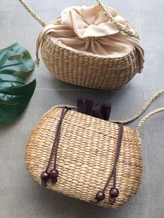 PRE-ORDER Small Cross body Straw Bag / straw handbag / Summer