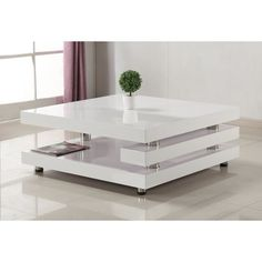 Furniture In Fashion Paxton Modern Coffee Table Square In High Gloss White Sofa Table Design, Corner Sofa Design, Living Room Sofa Design, Coffee Table Design, Modern Square Coffee Table, Contemporary Coffee Table, Modern Sofa Table, Centre Table Living Room, Beton Design