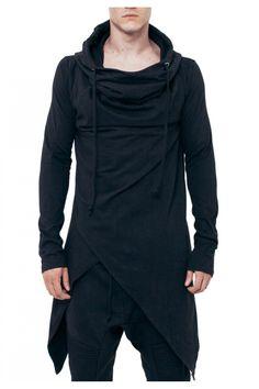 Asymmetrical Hooded Top