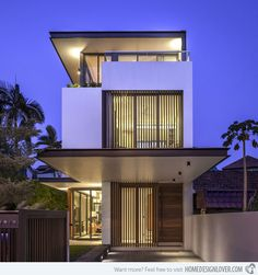 The Secret Behind the Extraordinary Three-Storey Sunny Side House in Singapore