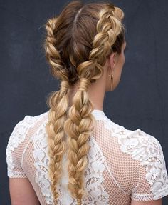"""""""Who does not love braids? Perfect for summer and festival season! For a tutorial see Bangstyle #kmhair #braids #kevinmurphy #lovekm…"""""""