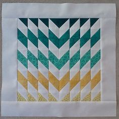 "Oh my gorgeousness! ""Shattered Chevron"" block by Christine Slaughter."