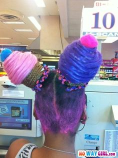 Ghetto Cup Cake Hairstyle