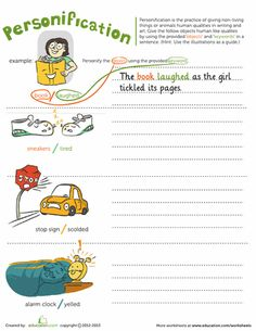 Worksheets: Personification for Mike Mulligan and his Steam Shovel