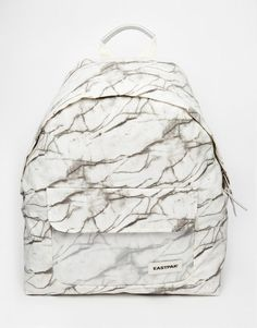 Tendance Sac 2017/ 2018 : Eastpak Padded Pak'r Backpack in Marble Print with Perspex Pocket at asos.com