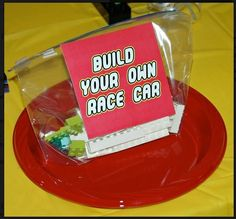 "Want a two part activity kids will love? Start by handing out ""Build Your Own Race Car"" kits."