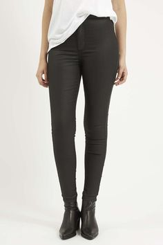 Photo 2 of MOTO Black Coated Joni Jeans
