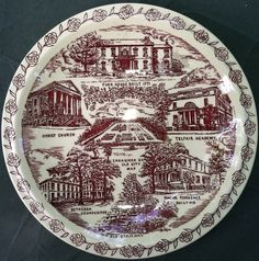 "Obverse, Vernon Kilns Souvenir Plate, ""Savannah [GA], The City of Historical Charm,"" for Leopold Adler Co. 4.98 on 6/7/13."