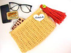 鍵編みクラッチバッグの作り方 編み物 編み物・手芸・ソーイング アトリエ 手芸レシピ16,000件!みんなで作る手芸やハンドメイド作品、雑貨の作り方ポータル