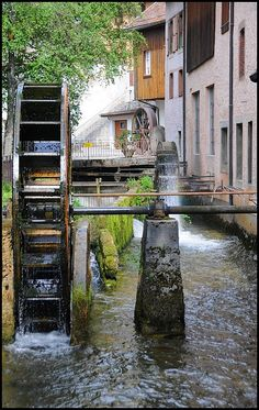 Vallorbe, Vaud_ West Switzerland Old Grist Mill, Water Turbine, Swiss Switzerland, Water Mill, 10 Picture, Le Moulin, Outdoor Travel, Water Wheels, Places To Visit