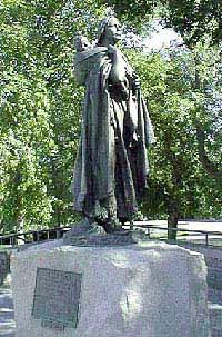 Sacajawea's Statue in Bismark, North Dakota. [Lewis and Clark Expedition]