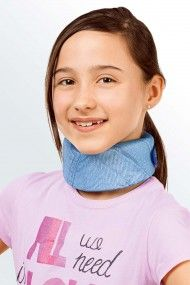 The paediatric medi Collar soft kidz neck support is made from medium density foam with touch and close fastening to ensure a secure, comfortable fit.