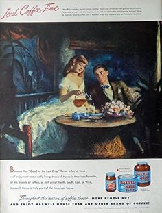 Ben Stahl  Iced Coffee Time  40 s Full Page Color Illustration  print art  Maxwell House Coffee