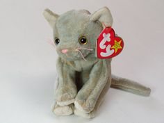 c4afb91a623 Ty Beanie Baby Scat the Cat 1998 Original Retired Rare No Tush Tag   Mint  Cond