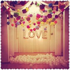 Wedding, hip, colourful, baloons