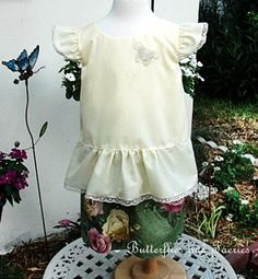 Karen's Butterflies and Faeries Oliver+S Butterfly Blouse & Skirt (Heirloom Style)