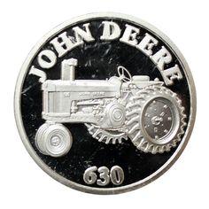 John #Deere 630 1 oz Silver Art Round 999 Pure http://www.gainesvillecoins.com