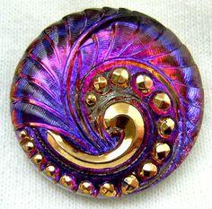 Czech Glass Button -