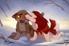 Jenna and Balto - puppy kiss by Oha.deviantart.com on @DeviantArt