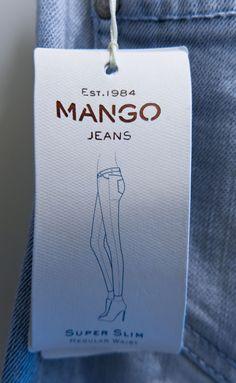 Mango jeans #hangtag