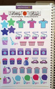 housekeeping icons planner - Google Search
