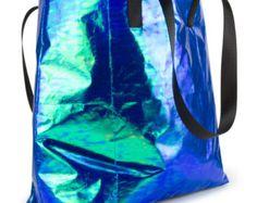 Iridescent Pink Shopper Bag by MAUDEStudioDesign on Etsy