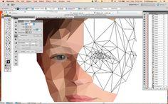 custom geometric portrait geometric portrait low by PhilGDesign
