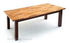 Farm Strip Dining Table Made from Sanded Reclaimed Woods in custom sizes to fit your home.