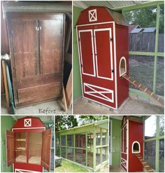 Armoire Chicken Coop. WoW what a project