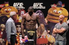 Anthony Rumble Johnson's weigh in entourage.
