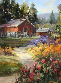 OIL by Betty Carr Watercolor ~ x