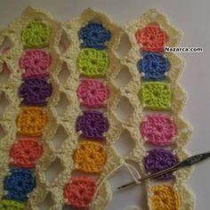ÖRGÜ ŞİŞLERİ İLE BEBEK BATTANİYESİ ÖRME TÜRKÇE VİDEOLU   Nazarca.com Crochet Shawl Diagram, Crochet Baby Dress Pattern, Crochet Mask, Crochet Faces, Crochet Flower Patterns, Crochet Stitches Patterns, Crochet Flowers, Crochet Mile A Minute, Crochet Triangle