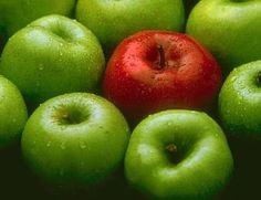 Manzanas verdes.