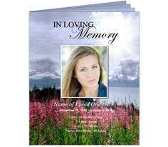 Seasons Funeral Booklet Template Legal Size