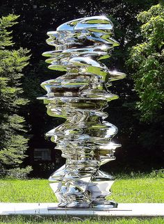 Tony Cragg - Against the grain - Another example of Craggs liquid-looking metallic sculptures.