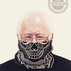 Bernie Approved! Limited Edition Culture Junkies Sugar Skull Bandanas. Get while supplies last bitches!  Available now! #uofficialmerchandise #unofficialmerchants #feelthebern #berniesanders #bandanas #sugarskull #dayofthedead #limitededition