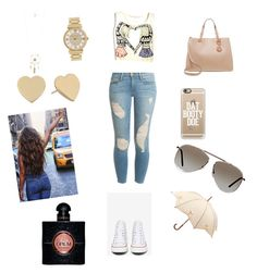 Untitled #18 by champayne-wheeler on Polyvore featuring polyvore fashion style Frame Denim Converse MICHAEL Michael Kors Kate Spade Michael Kors Aéropostale Tom Ford Casetify Fulton Yves Saint Laurent clothing