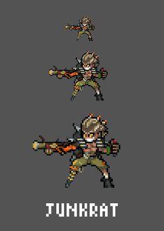 [Pixel Art] - Junkrat / Jamison Fawkes Overwatch Sprites Twitter: pic.twitter.com/oFKvdCU5WL