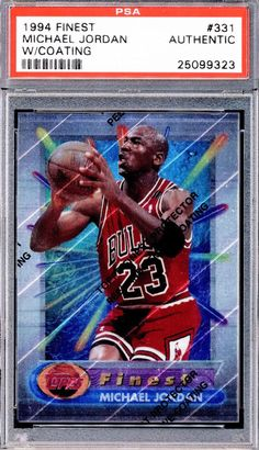 1994-95 Finest Michael Jordan wearing #23