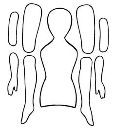 Paper Doll Template | this is an art doll i created using a jointed doll plastic template i ...